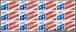 "Scott #TDB84Bc NCR  ""Stylized Flag""  ATM Test/Demo Stamp Pane"