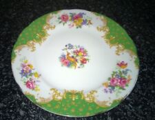 Vintage Paragon Green Rockingham Pattern Plate 6 1/4 inches approx. Made England