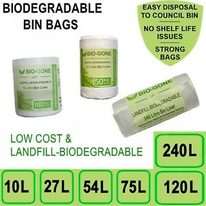 Biodegradable Bin Liners Kitchen Garbage Bags | 10L, 27L, 54L, 75L, 120L, 240L