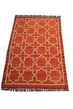 Handwoven Rug Jute Wool Flat Weave 4x6'Floor Carpet Oriental Area Rug Rag Throw
