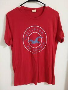 HOLLISTER Logo Graphic T-Shirt Crew Neck Short Sleeve Tee S