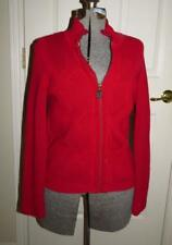 TOMMY HILFIGER RED FULL ZIP SWEATER/JACKET SIZE M
