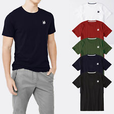 T-shirt Manica Corta Uomo Polo Atlantis Maglietta Girocollo Maglia 100% Cotone