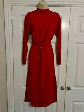 Ladies Red Long Sleeved Dress Size 10 / 12 small on label Dress By Zara