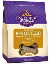 Old Mother Hubbard Crunchy Classic Natural Dog Treats P-Nuttier biscuits 3.3 lb