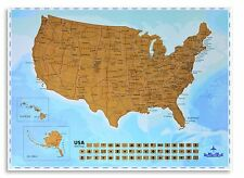 USA Scratching Map - Scratch off States as You Travel - New Creative Design -