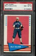 Billy Sullivan 1961 Fleer #141 PSA 8 NM-MT Graded Baseball Card Braves