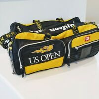 Wilson US OPEN Tennis Raquet Duffel Bag Yellow Black w/ Shoulder Strap