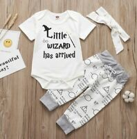 Harry Potter baby newborn toddler bodysuit pants set girl boy clothes fashion