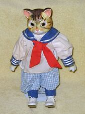 Vintage  Heritage mint  Sailor Porcelain Male Cat Doll  From 1970's