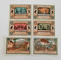 STÜTZERBACH NOTGELD 4x 50, 2x 75 PFENNIG 1921 NOTGELDSCHEINE (12484)