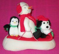 HALLMARK 2007 JINGLE PALS SLEIGH RIDE Animated Singing Plush Snowman Dog Penguin