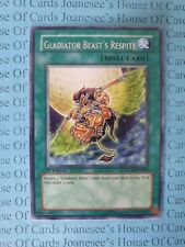Gladiator Beast's Respite GLAS-EN058 Silver Rare Yu-Gi-Oh Card 1st Edition New