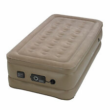 InstaBed Raised Twin Air Bed Mattress with Built-In Never Flat Air Pump | 840016