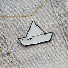 Unisex Pequeño Papel Barco Esmalte Aleación Abrigo Suéter Camisa Broche