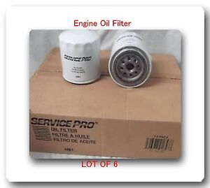 6 OIL FILTERS M81 PH16  Fits: DODGE MITSUBISHI JEEP ACURA TOYOTA &