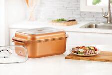 Copper Chef Wonder Cooker 3 Piece Cookware Set Non-Stick Multi-Use Food Storage