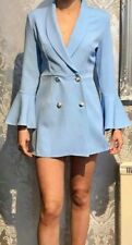 BNWT LADIES PALE BLUE TUX TUXEDO STYLE PLAYSUIT SIZE SMALL 8-10