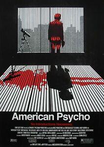 American Psycho Movie Poster, American Psycho print, Wall Art Decor