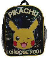 Pokemon Pikachu Neon City Lights Glow In The Dark Childrens Backpack School Bag