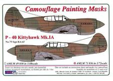 AML Models 1/72 CURTISS P-40 KITTYHAWK Mk.IA Camouflage Paint Mask Set