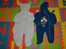 Lot 2 Baby Boy Girl Hooded Thick Fleece Sleep Sack Sleeper Snowsuit Coat 6-9 m