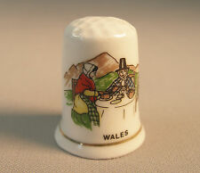 "Thimble by Exquisite ""Wales"" Fine Bone China Vintage Rare Collectible 1""