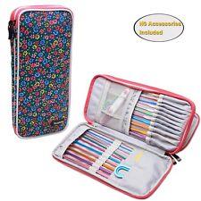 "Teamoy Tunisian Crochet Hook Case(up to 11"" long) Travel Organizer Bag for Af..."