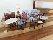 Miniature Dollhouse Fine 1:12 Furniture Chairs Marble Tables Globe Victorian lot