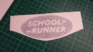 SCHOOL RUNNER Oval decals more variations, 4x4 truck, car,van,lorry
