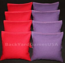 CORNHOLE BEAN BAGS Red & Purple 8 ACA Regulation Corn Hole Game Toss Bags