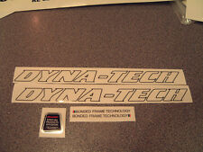 Raleigh DYNA-TECH decals. Set of five. Top quality artwork and print