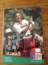 Hale Irwin Autographed Auto Signed Golf Baseball Card