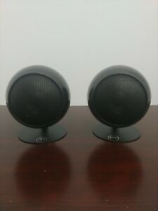 Orb AUDIO Speakers pair black with stands
