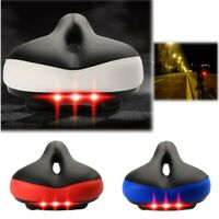 Bicycle Saddle Thickened Broaden Cushion Comfortable Bicycle Seat with Taillight