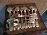 6 Couverts de Table Orfèvrerie Argental Modèle Coquille