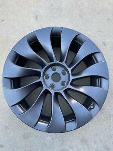 Tesla Uberturbine Rim 21 Wheel 21x 9.5 Front Slight Curb Rash