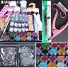 New Acrylic Powder Glitter Nail Brush False Finger Pump Nail Art Tools Kit