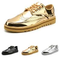 Mens Trail Walking Sports Wing Tip Street Fashion Shiny Boards Sneakers Shoes