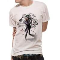 Official Licensed Joker Batman Insane White T-Shirt