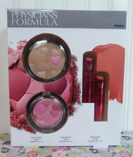 PHYSICIANS FORMULA HAPPY BOOSTER SET 2 LIPSTICK (ROSE) FACE POWDER and BLUSH