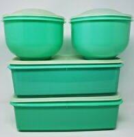 Large Lot of Jadite Tupperware Containers 782 Vegetable Crisper 1424 Lettuce
