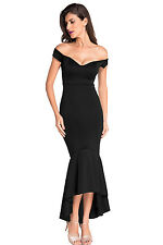 US 2X Sexy Ladies Women Off-shoulder Backless Mermaid Jersey Evening Party Dress