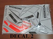 82 Honda CX500TC Turbo Complete Decal Set Pin Striping Warning Caution Decals