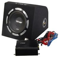 Vibe Slick SLR10 Car Audio Sub Subwoofer Enclosure with Amplifier 1050w MAX