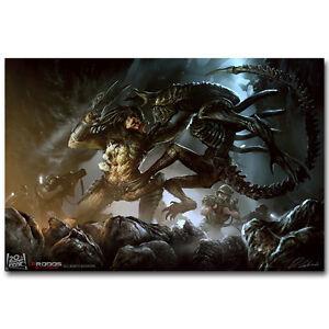Alien vs Predator Movie Silk Poster 13x20 24x36inch Art Print 012