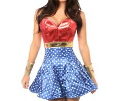 Wonder Woman Costume Dress by Daisy Corsets (Dress Only) Size Large ~ EUC