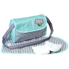 Adora Baby Doll Zig Zag Diaper Bag Accessories Changing Set Gender Neutral