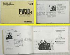 Komatsu PW30-1 Hydraulikbagger Betriebsanleitung Bedienung Wartung 3.1992