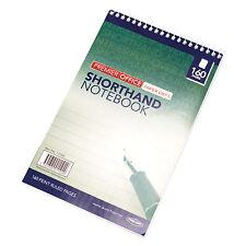 1 x A5 LA STENOGRAFIA Spirale Blocco Note Carta 160 pagina Foderato Office MEMO Pad messaggio